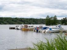 Alla båtar ligger nu i sjön